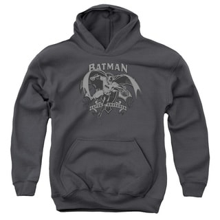 Batman/Crusade Youth Pull-Over Hoodie in Charcoal
