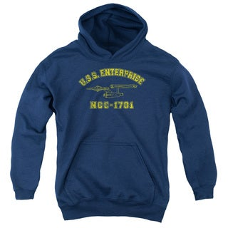 Star Trek/Enterprise Athletic Youth Pull-Over Hoodie in Navy