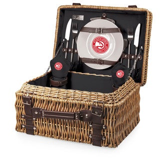 Picnic Time Atlanta Hawks Champion Wood/Polyester Picnic Basket