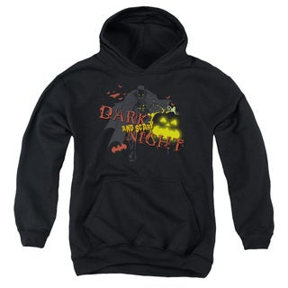 Batman/Dark and Scary Night Youth Pull-Over Hoodie in Black