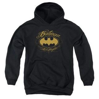 Batman/Batman La Youth Pull-Over Hoodie in Black