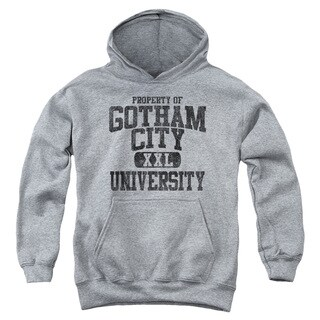 Batman/Property Of Gcu Youth Pull-Over Hoodie in Heather