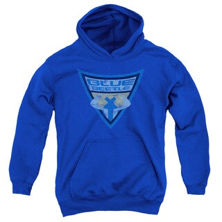 Batman Bb/Blue Beetle Shield Youth Pull-Over Hoodie in Royal