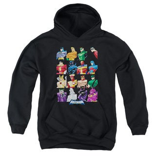 Batman Bb/Cast Of Characters Youth Pull-Over Hoodie in Black