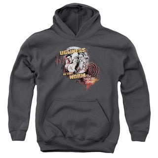 Twilight Zone/The Norm Youth Pull-Over Hoodie in Charcoal
