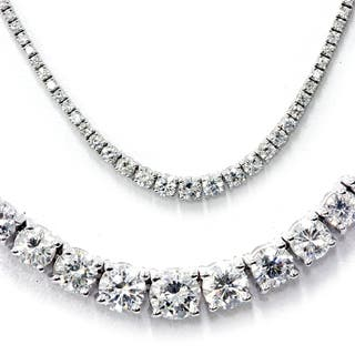 18k White Gold 8.61ct TDW Graduated Diamond Tennis Necklace (G-H, SI1-SI2)|https://ak1.ostkcdn.com/images/products/11875943/P18773641.jpg?impolicy=medium