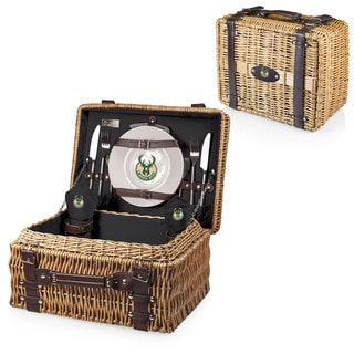 Picnic Time Milwaukee Bucks Black Champion Picnic Basket