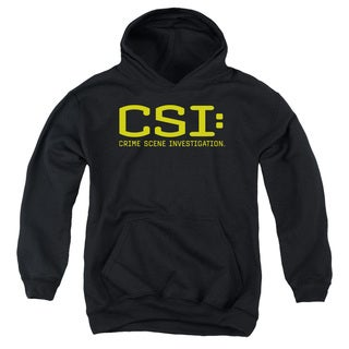 CSI/Logo Youth Pull-Over Hoodie in Black