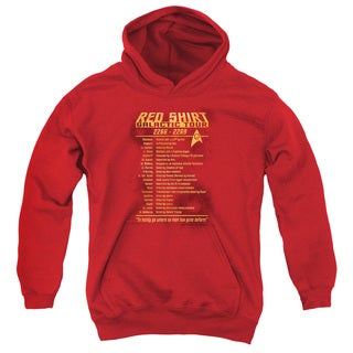 Star Trek/Red Shirt Tour Youth Pull-Over Hoodie in Red