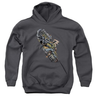 Dark Knight Rises/Attack Youth Pull-Over Hoodie in Charcoal