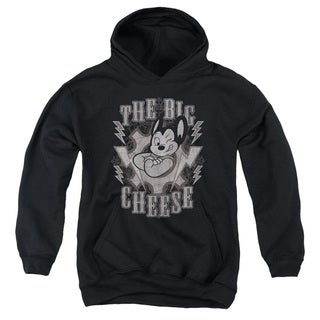 Mighty Mouse/The Big Cheese Youth Pull-Over Hoodie in Black