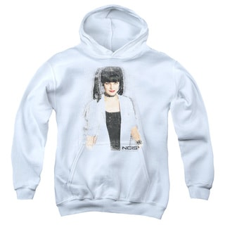 Ncis/Abby Skulls Youth Pull-Over Hoodie in White