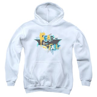 Dark Knight Rises/No Fear Youth Pull-Over Hoodie in White