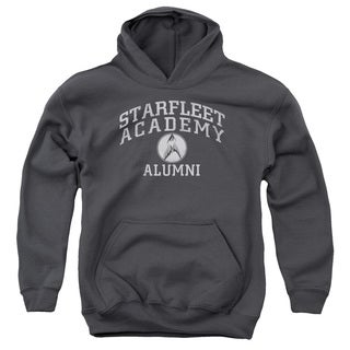 Star Trek/Alumni Youth Pull-Over Hoodie in Charcoal
