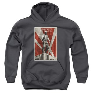 Dark Knight Rises/Bane Rooftop Poster Youth Pull-Over Hoodie in Charcoal