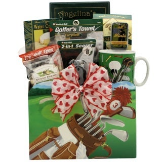 Golfing Around Themed Gift Basket