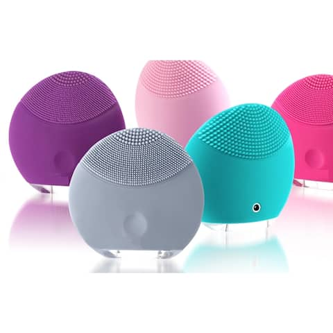 Silicone Rechargeable Three-zone Mini Facial Brush