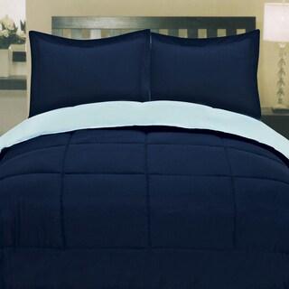 Two-tone Reversible Down Alternative Box Stitch Comforter