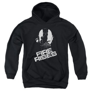 Dark Knight Rises/Fire Rises Youth Pull-Over Hoodie in Black