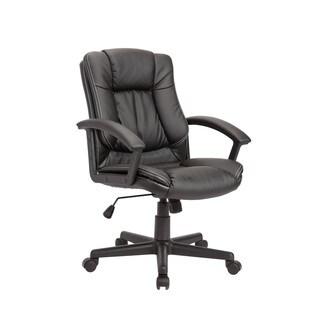 Black Adjustable Nylon Base Swivel Office Chair