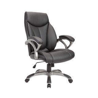 Black Powder-coated Adjustable Swivel Office Chair
