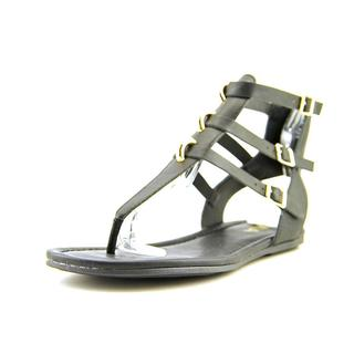Mia Women's Barbados Black Faux Leather Sandals