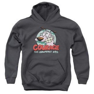 Courage The Cowardly Dog/Courage Youth Pull-Over Hoodie in Charcoal