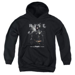 Dark Knight Rises/Batman Rise Youth Pull-Over Hoodie in Black