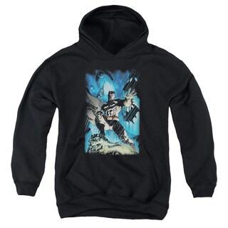 Batman/Stormy Dark Knight Youth Pull-Over Hoodie in Black