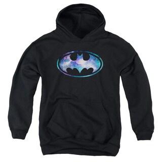 Batman/Galaxy 2 Signal Youth Pull-Over Hoodie in Black