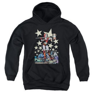 Batman/Hammer Time Youth Pull-Over Hoodie in Black