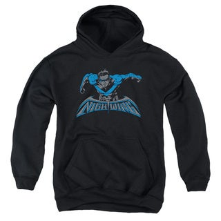 Batman/Wing Of The Night Youth Pull-Over Hoodie in Black