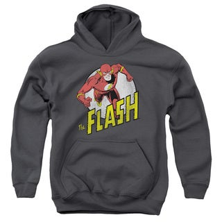 DC/Run Flash Run Youth Pull-Over Hoodie in Charcoal
