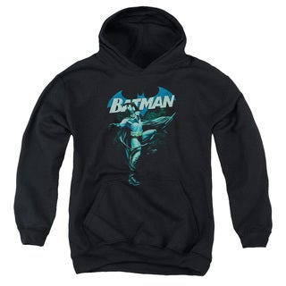 Batman/Blue Bat Youth Pull-Over Hoodie in Black