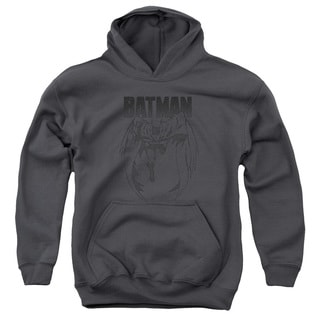 Batman/Grey Noise Youth Pull-Over Hoodie in Charcoal