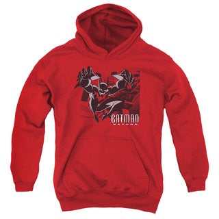 Batman Beyond/City Jump Youth Pull-Over Hoodie in Red