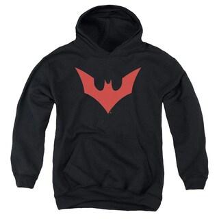 Batman Beyond/Beyond Bat Logo Youth Pull-Over Hoodie in Black