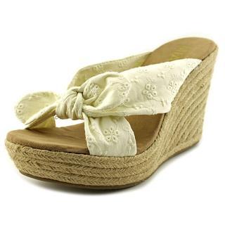 Mia Girl Women's Brenna Off-white Fabric Sandals