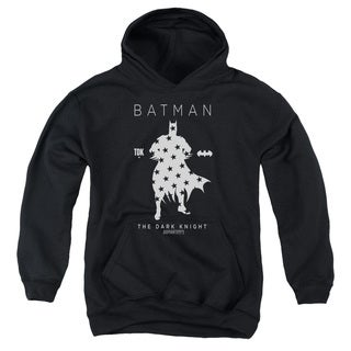 Batman/Star Silhouette Youth Pull-Over Hoodie in Black