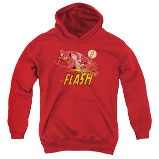 DC/Crimson Comet Youth Pull-Over Hoodie in Red