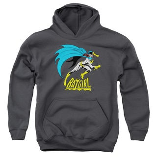 DC/Batgirl Is Hot Youth Pull-Over Hoodie in Charcoal