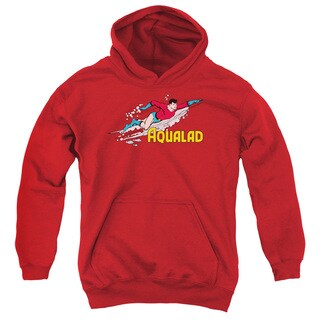 DC/Aqualad Youth Pull-Over Hoodie in Red