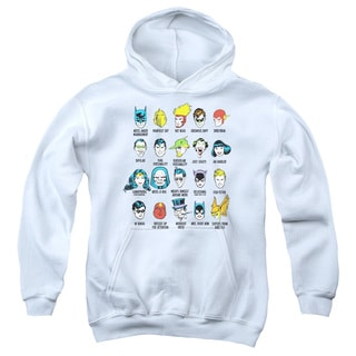 DC/Superhero Issues Youth Pull-Over Hoodie in White