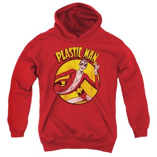DC/Plastic Man Youth Pull-Over Hoodie in Red