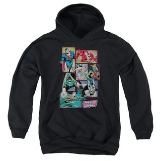 DC/Justice League Boxes Youth Pull-Over Hoodie in Black