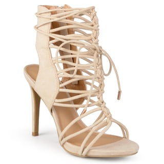 Journee Collection Women's 'Bexley' Strappy Lace-up High Heels