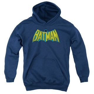 DC/Classic Batman Logo Youth Pull-Over Hoodie in Navy
