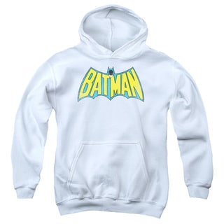DC/Classic Batman Logo Youth Pull-Over Hoodie in White