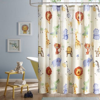 Mi Zone Kids Jungle Josh Multi Printed Shower Curtain