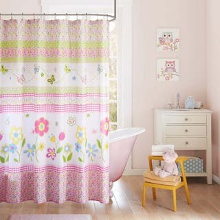 Mi Zone Kids Flower Power Multi Printed Shower Curtain|https://ak1.ostkcdn.com/images/products/11877370/P18774925.jpg?impolicy=medium